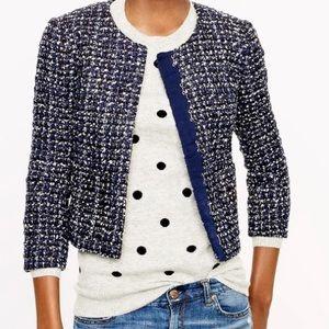 J. Crew Midnight Tweed Jacket